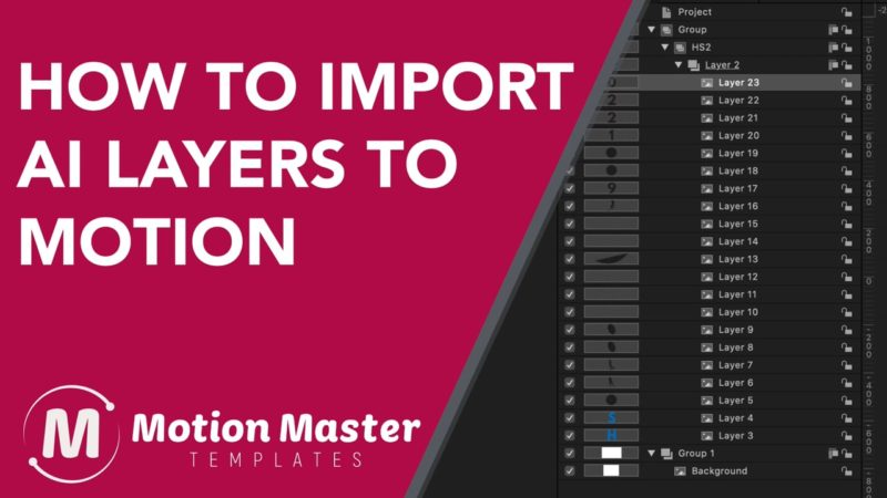 How to Import AI layered files into Apple's Motion