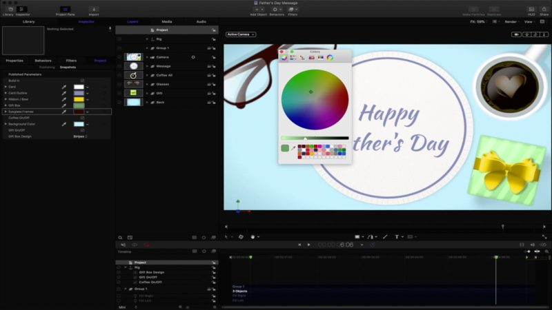 Father's Day Message Template – Time-lapse Video