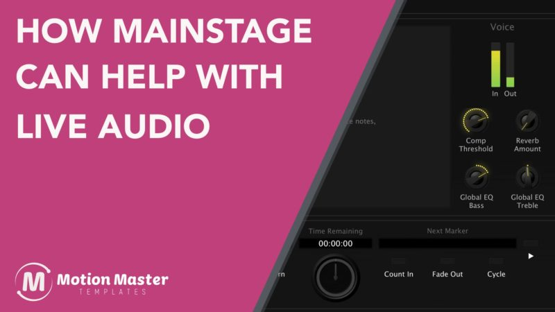 How Apple's MainStage helps improve Live Audio
