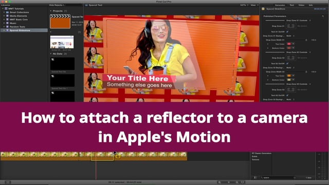 Apple Motion Tutorial – Add a reflector to camera