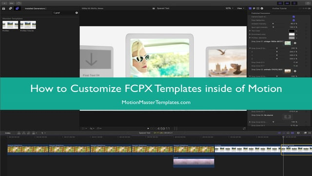 How to customize a FCPX template in Motion
