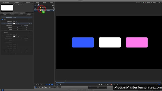 Quickly copy properties in Motion